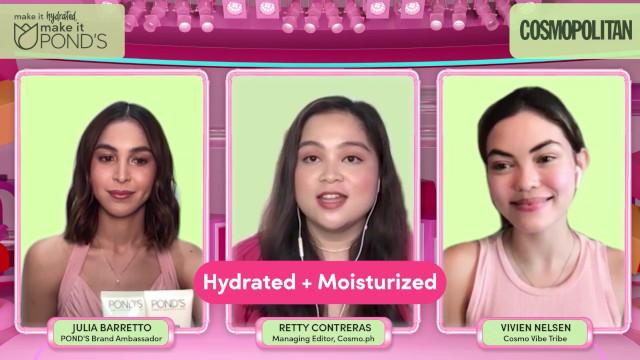 Pond's PinkLab Hydration Masterclass with Julia Barretto, Cosmopolitan Managing Editor Retty Contreras, and Cosmo Vibe Tribe Vivien Neilsen
