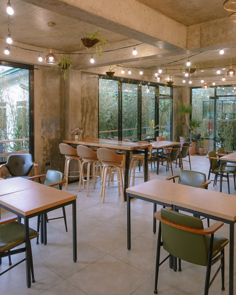 The first floor of Seollem Cafe in Baguio