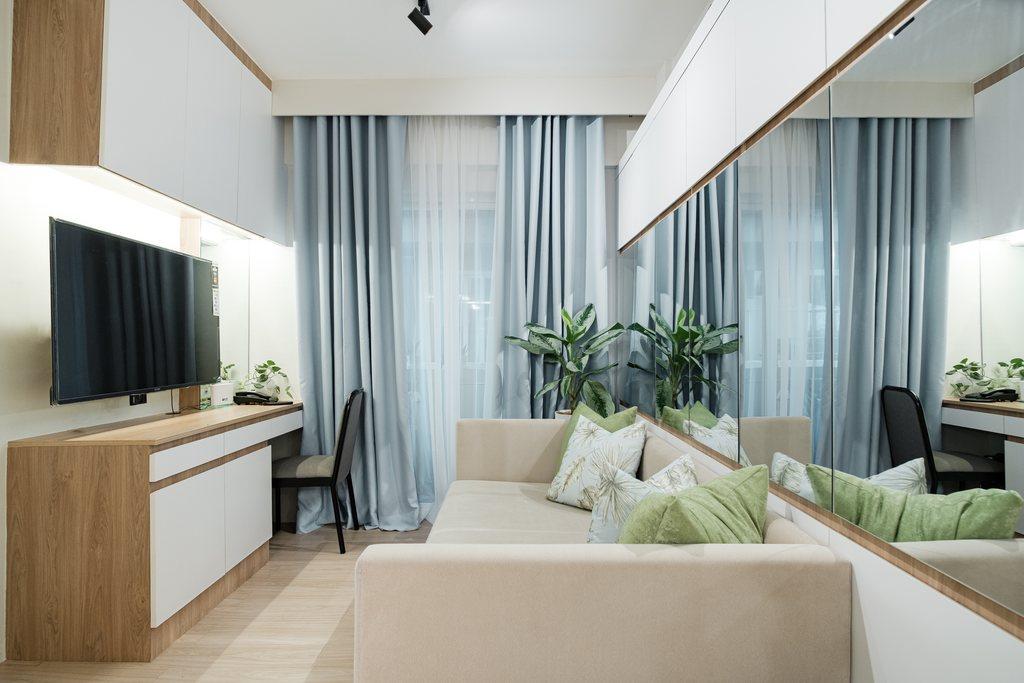 Villa Soleta, condo renovation - living room