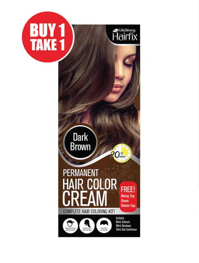 Hairfix Color Cream For Men & Women in Dark Brown