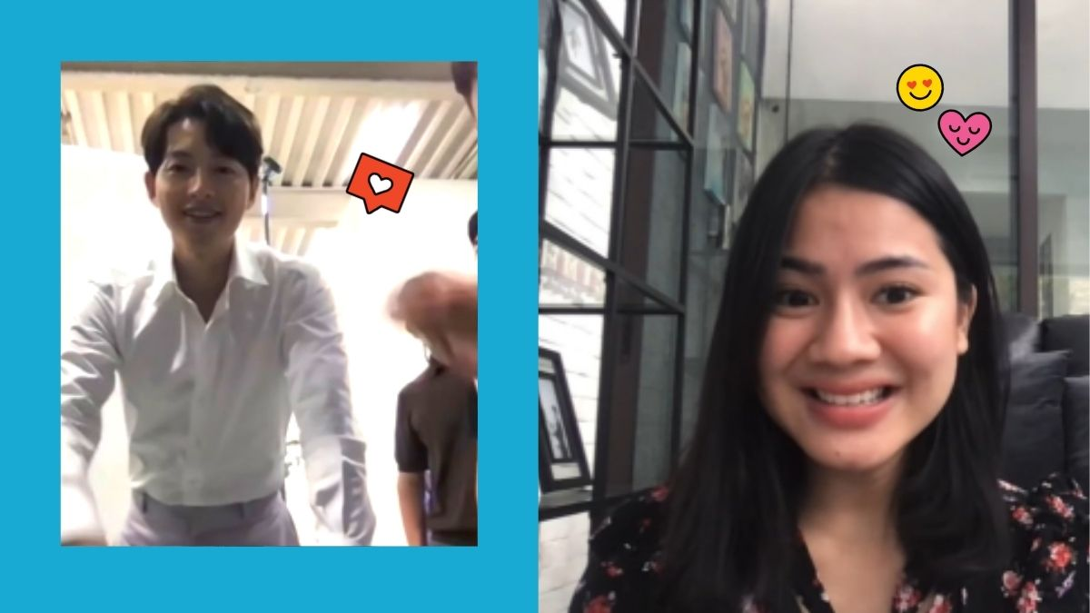 Indonesian actress gets surprise video call with Song Joong Ki