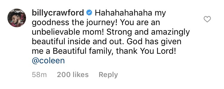 Billy Crawford's reply to Coleen Garcia's throwback photos of her pregnancy on IG