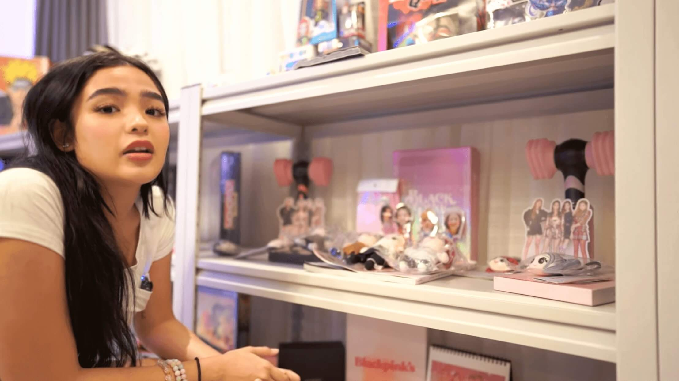 Andrea Brillantes is a fan of BLACKPINK and has a collection of lightsticks and other BLINK memorabilia displayed in her room
