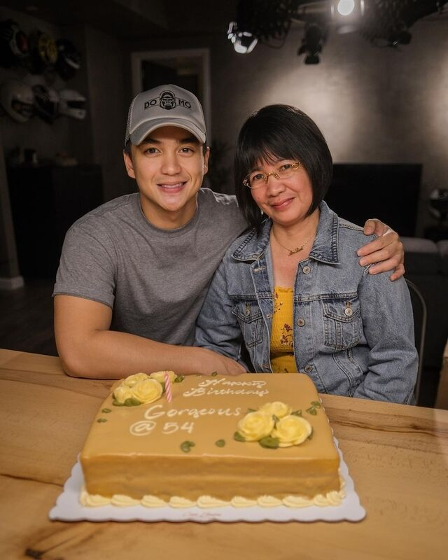 dominic roque and mother