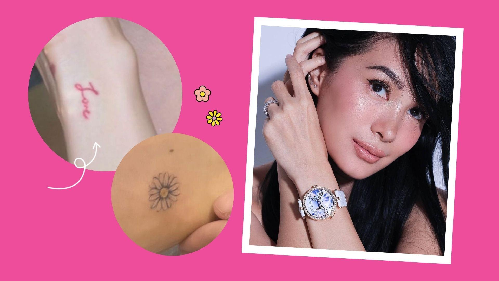 "Heart Evangelista's new tattoos: ""Love"" and daisy"