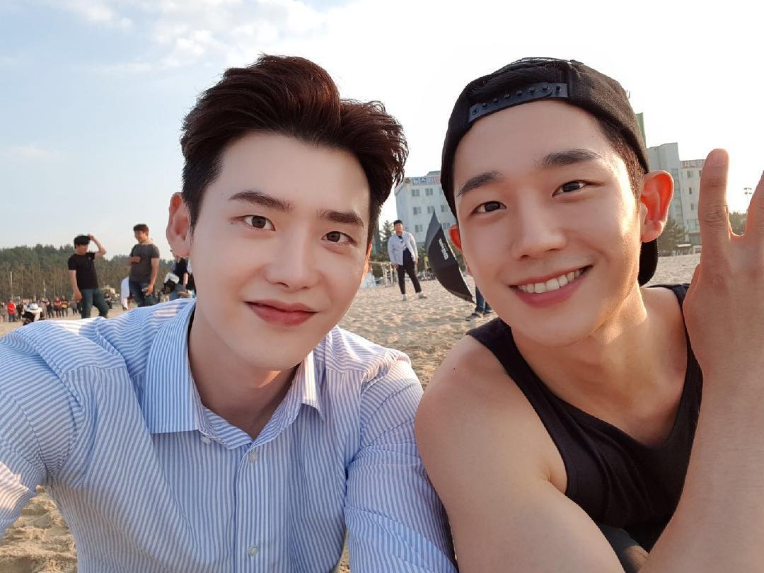 Lee Jong Suk and Jung Hae In