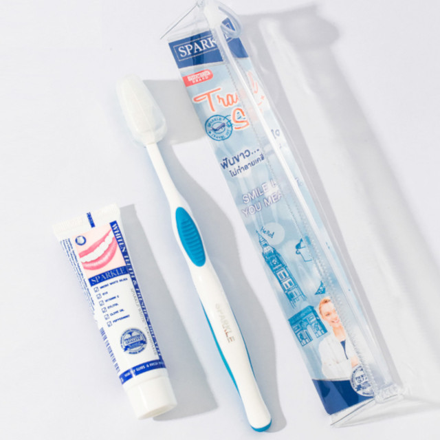 Sparkle Toothbrush Travel Set
