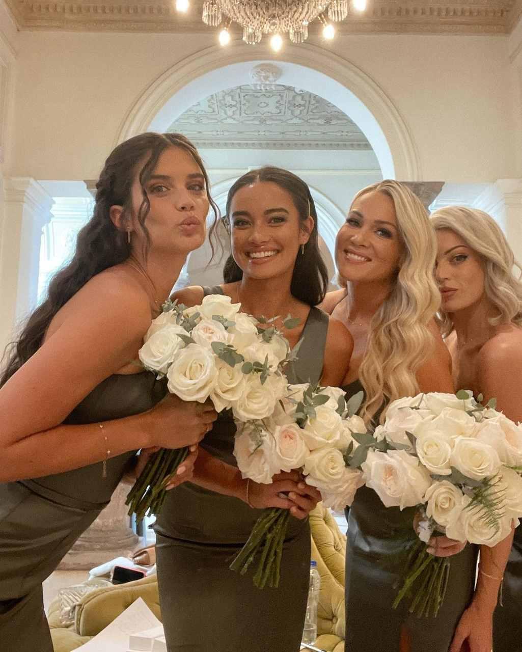 Kelsey Merritt, a part of Jasmine Tookes' bridal party