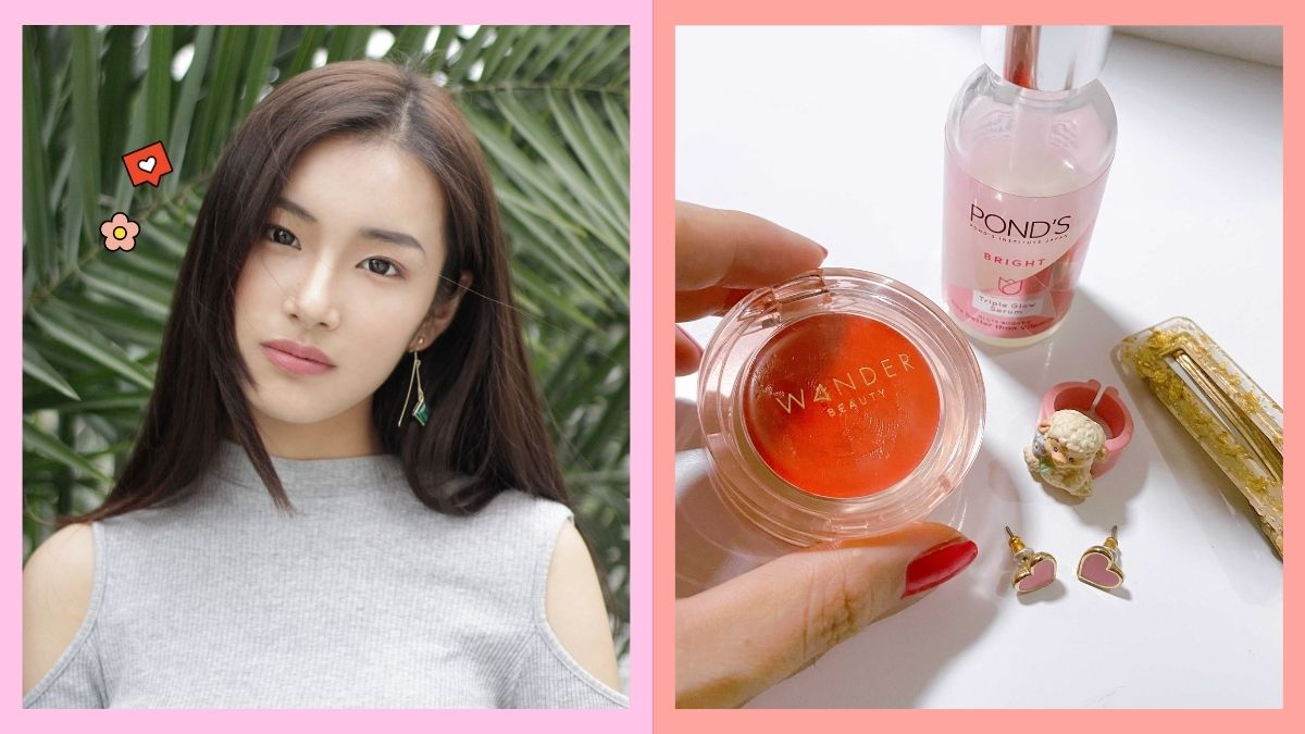 Basic glowing skincare and makeup routine