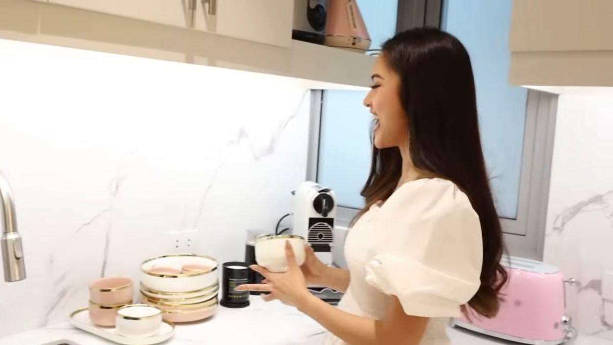 Kim Chiu condo tour -  kitchen