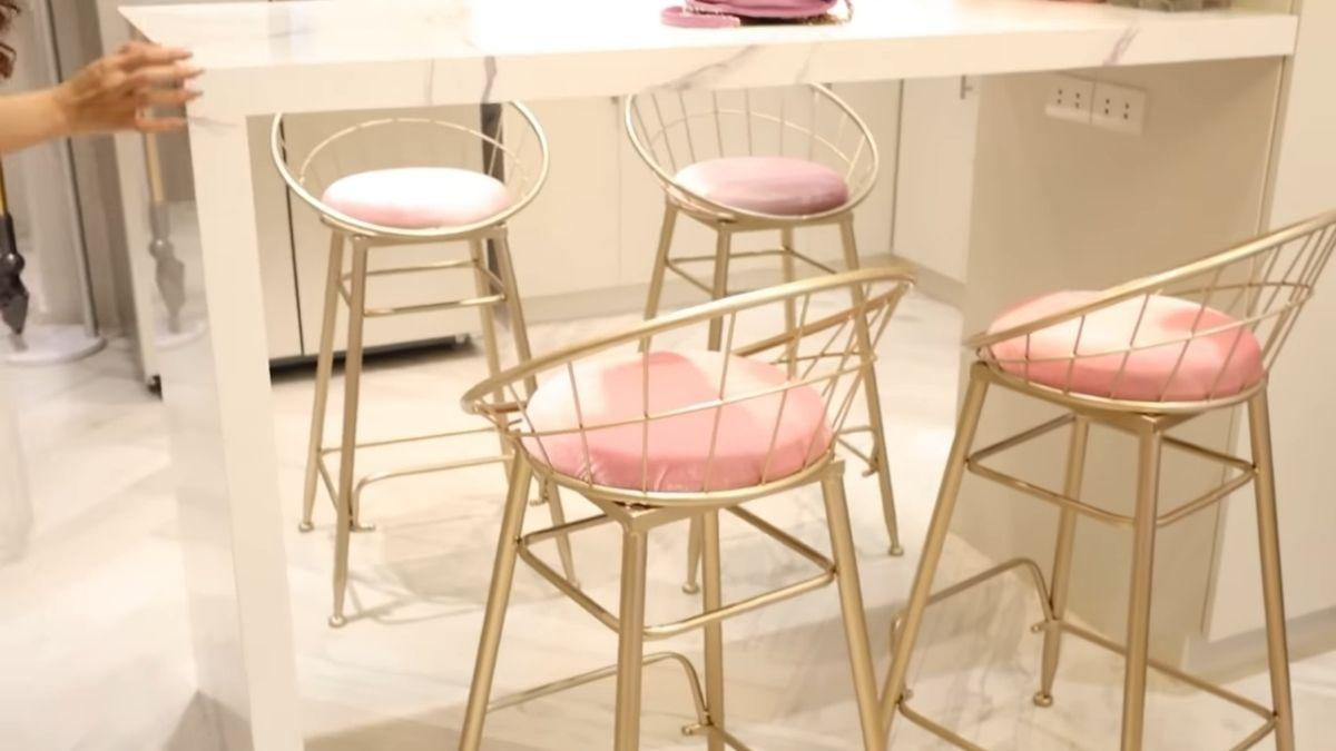 Kim Chiu condo tour -  dining chairs