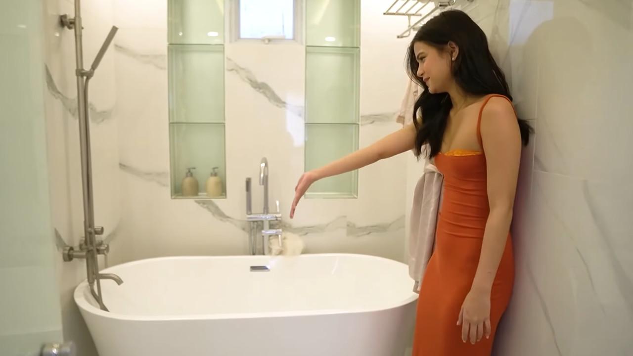 Maris Racal room tour: bathtub