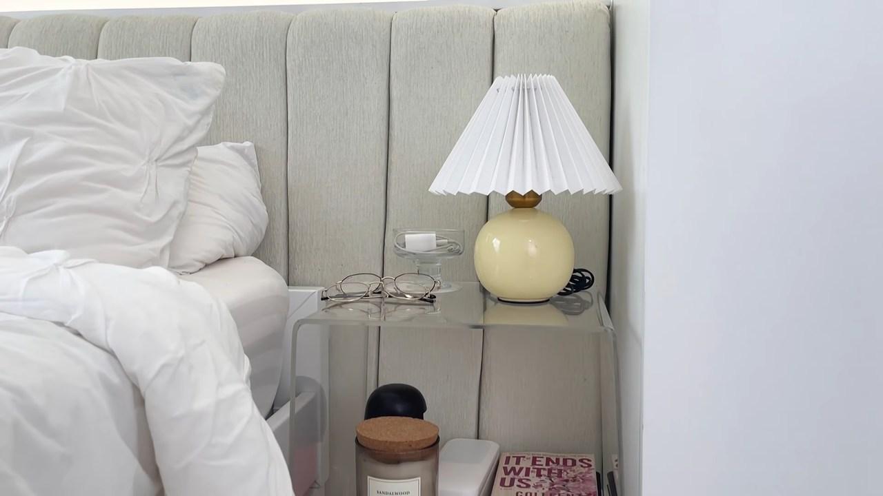 Maris Racal room tour: acrylic bedside table