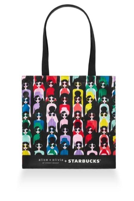 starbucks x alice and olivia designer merch collection - tote bag