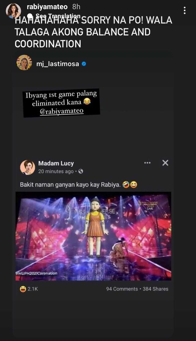 rabiya mateo stumbles during miss universe philippines final walk