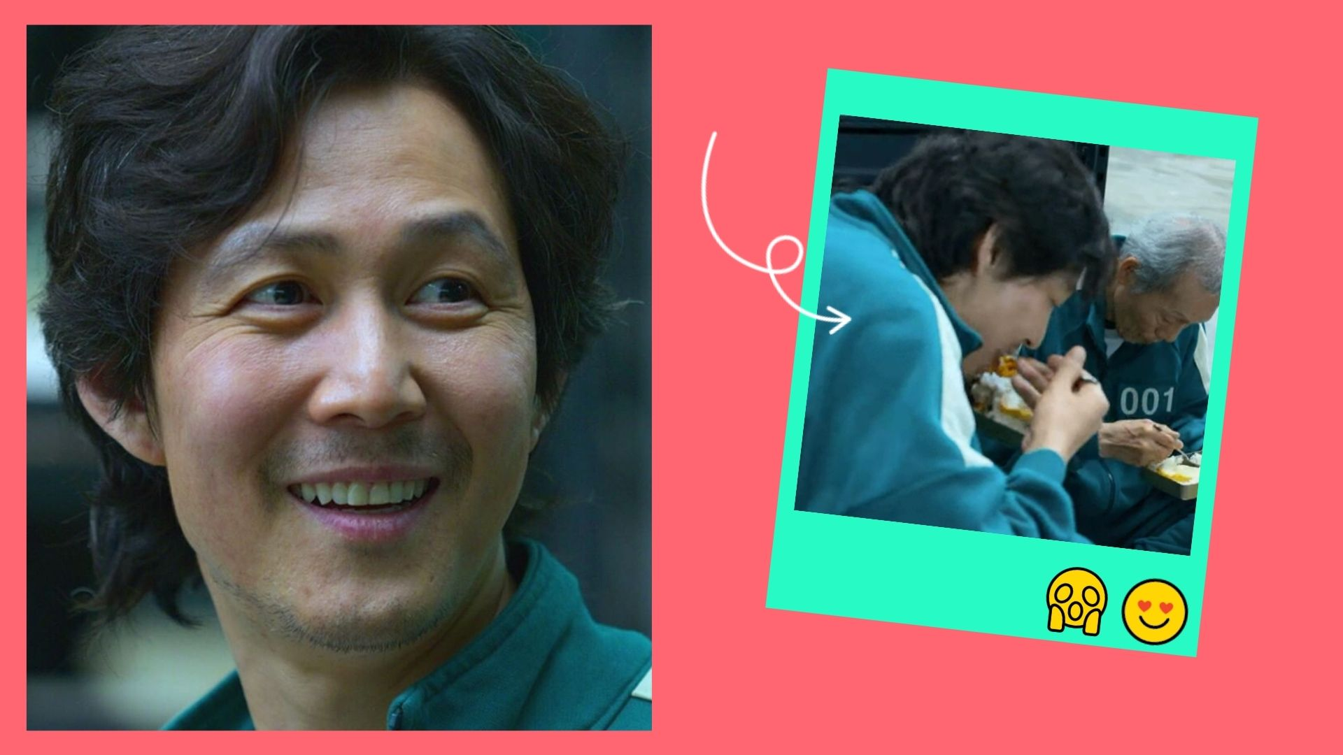 Lee Jung Jae reacts to his viral food scene in Squid Game