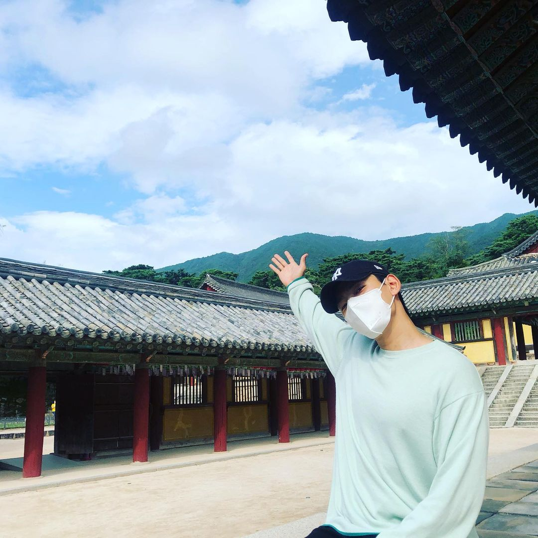 Kang Hyung Suk in one of Hometown Cha-Cha-Cha's filming location