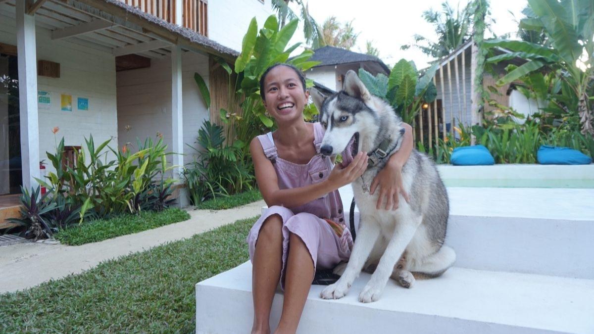 Siberian Husky Nougat and Pinay Ruan Mac in Siargao island