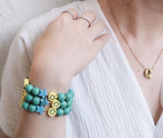 LM Turquoise Smiley Bracelet