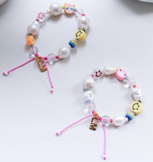 LM Y2K Emoji Baroque Pearl Bracelet