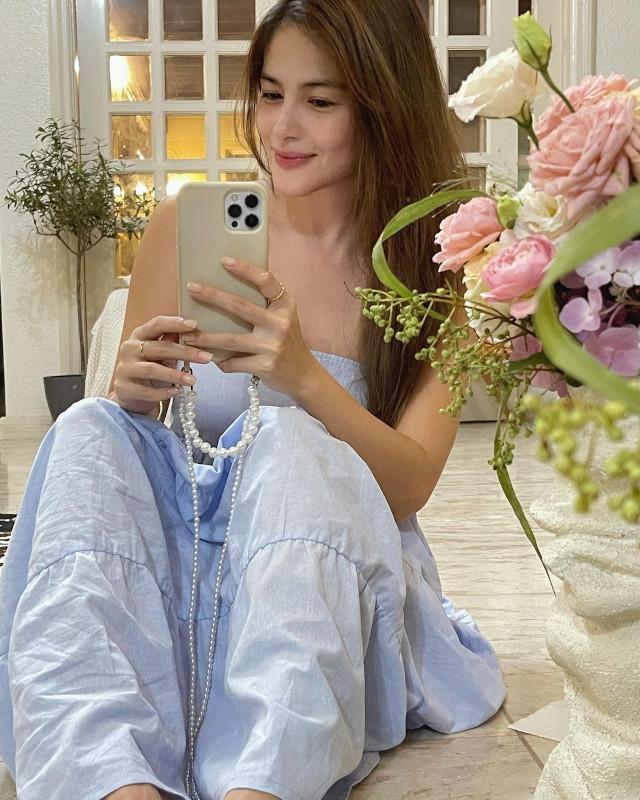 Elisse Joson wearing a maxi dress