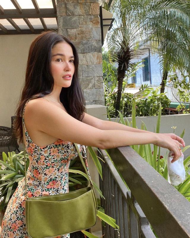 Elisse Joson wearing a floral dress