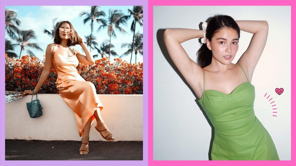 Dress Outfits, Sarah Lahbati and Elisse Joson wearing pretty dresses