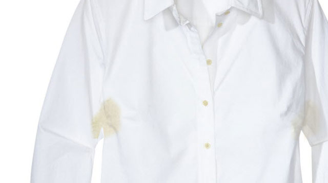 how to get rid of yellow sweat stains. Black Bedroom Furniture Sets. Home Design Ideas