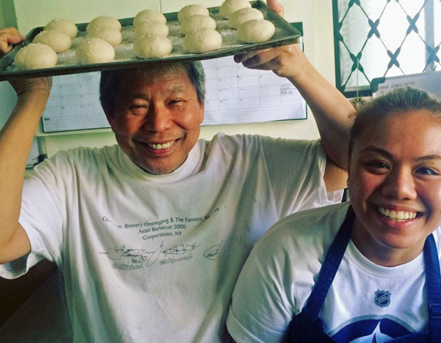 Romy Dorotan and coconut pandesal