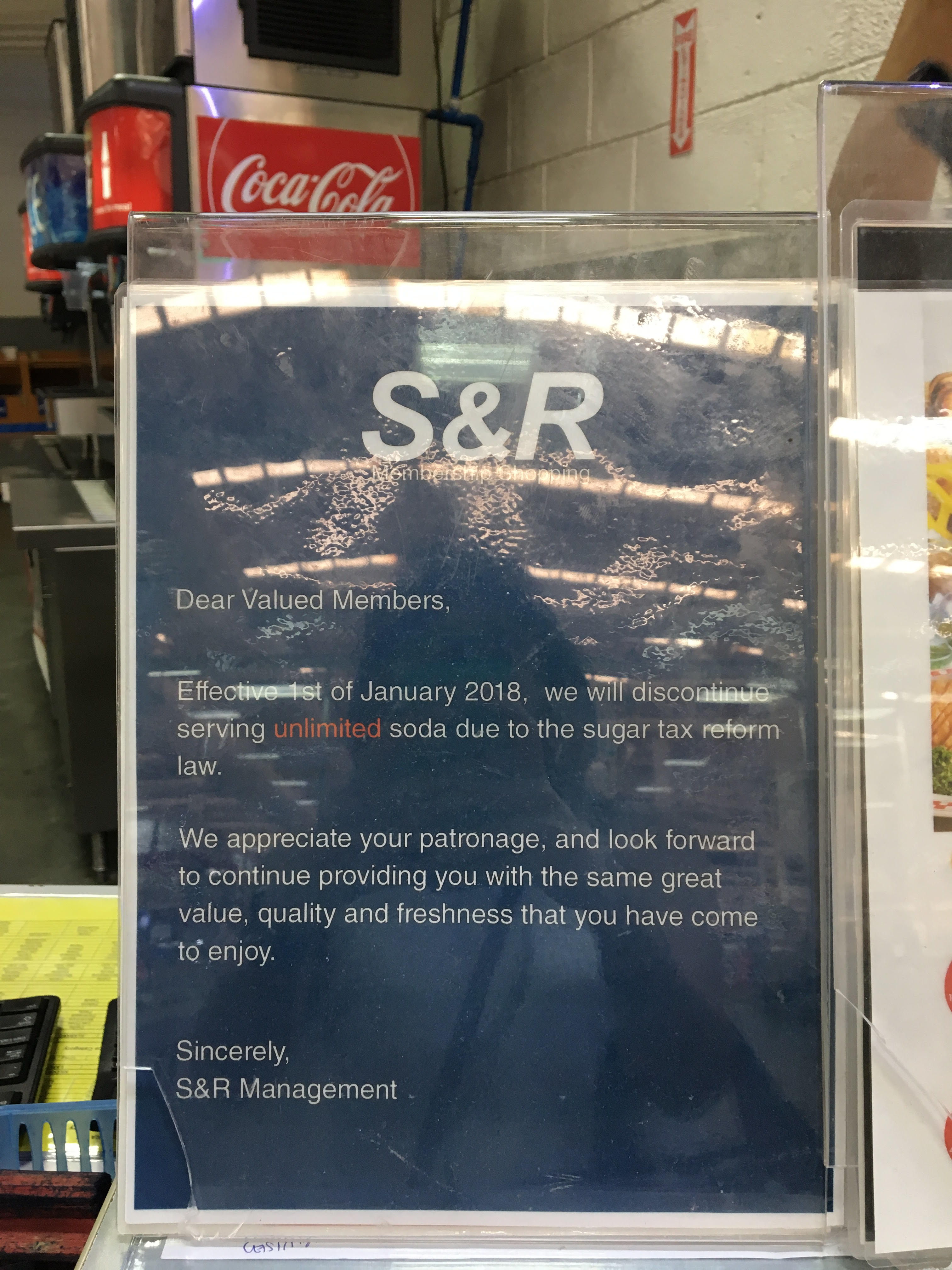 No More Unli Sodas at S&R Supermarkets Ahead of New Tax on Sugary Drinks