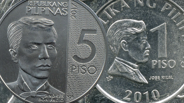 Image result for new five pero and one peso coin