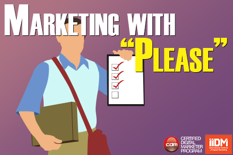Marketing with 'please'