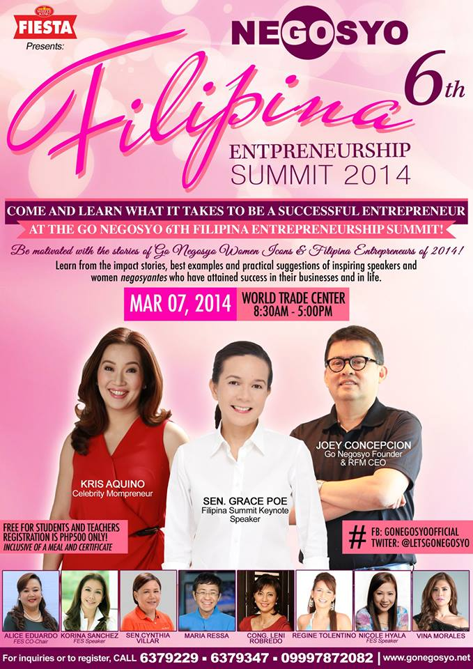 6th Filipina Entrepreneurship Summit 2014
