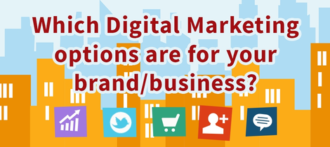 Which digital marketing options are for your brand/business?