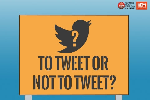 To tweet, or not to tweet