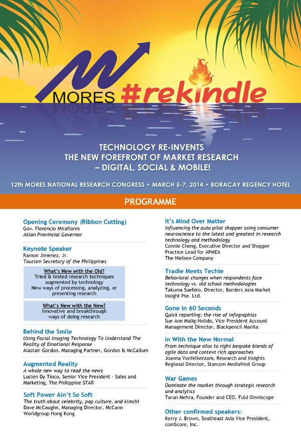 MORES 2014 programme