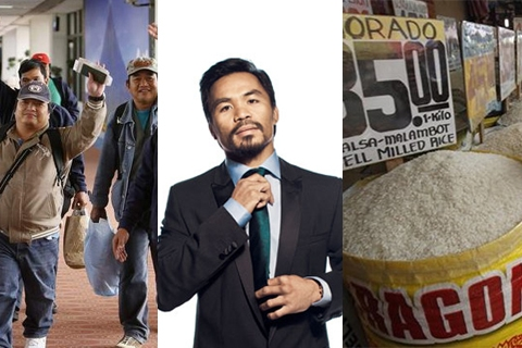 Biz News Roundup: Pacquiao champions list of top taxpayers; rice tops list of consumer goods; OFW families invest remittances less
