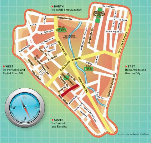 Divi Map of M. De Santos St.