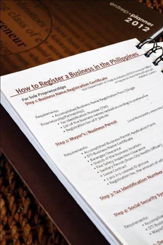 Entrep Planner 2012