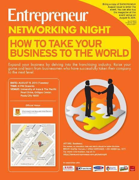 Entrepreneur Networking Night poster