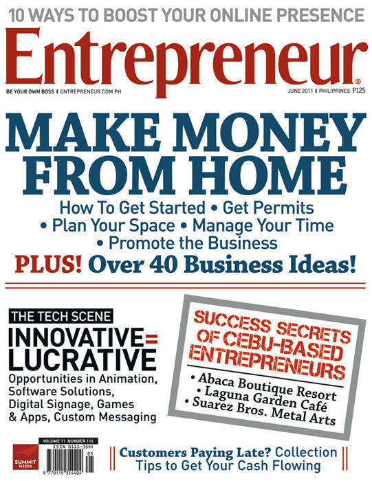 June 2011 cover of Entrepreneur Philippines