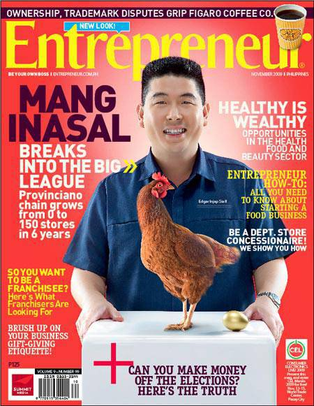 edgar sia ii biography Edgar sia ii, better known as injap, started mang inasal in iloilo city in 2003 for his successful expansion and pioneering concept of the filipino barbeque fast-food chain, he was awarded, among many others, the.
