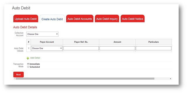 PS Bank auto debit