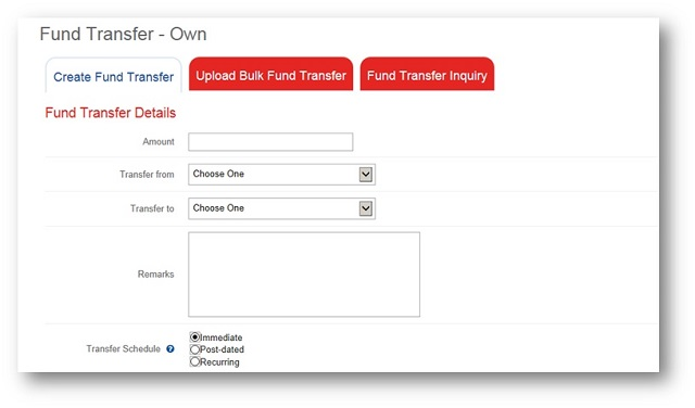 PS Bank BOB fund transfer