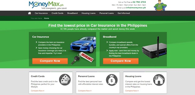 compares credit cards car insurance broadband internet plans among others