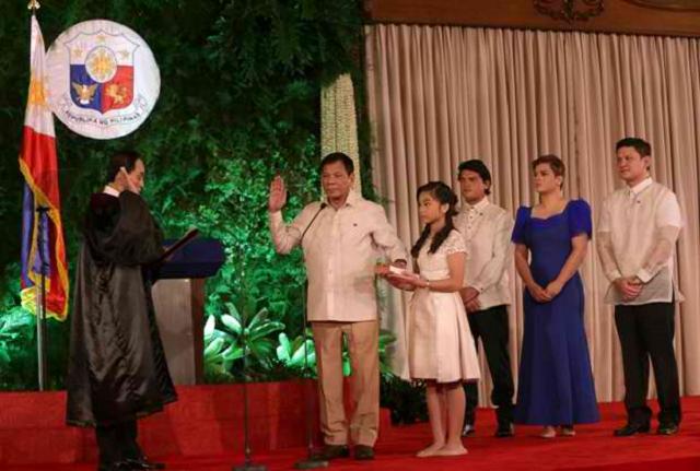 Duterte oathtaking