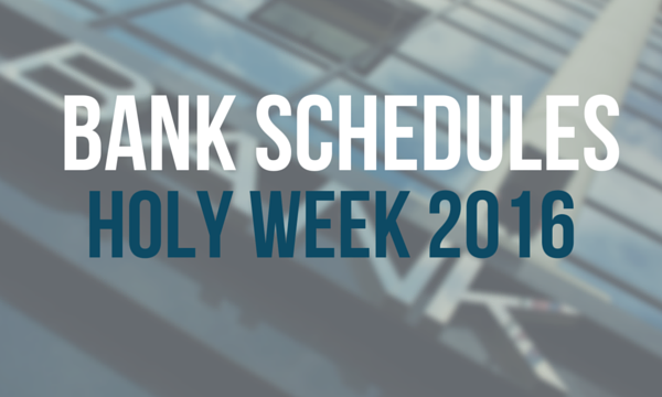 bank schedules