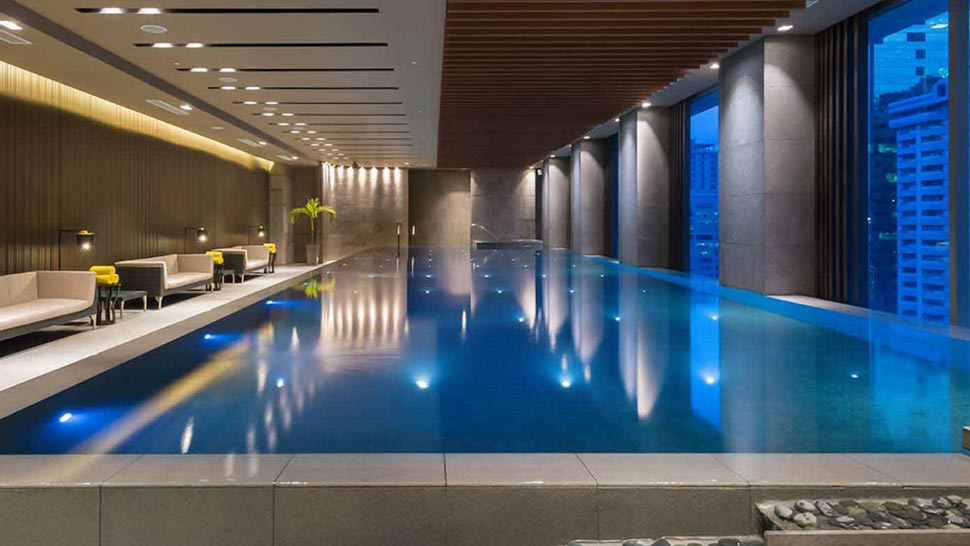 ... Indoor Infinity Pool At The 22nd Floor, Where Youu0027ll Get A Great View  Of The Ortigas Cityscape Thanks To Floor To Ceiling Glass Walls.
