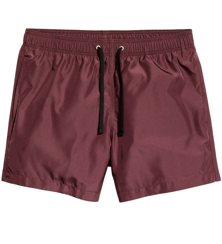 2a8a43082a The sheen on H&M's swim trunks makes them stand out just enough.