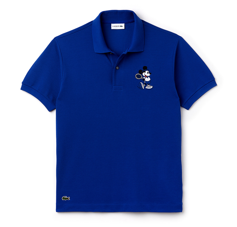 357aac508 IMAGE: Lacoste. Share. The polo shirt features an embroidered Mickey ...